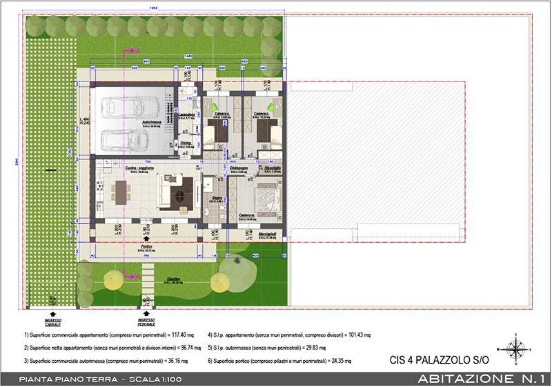 B m di brevi arturo e c s n c villa bifamiliare 120 mq for Case in vendita con planimetrie
