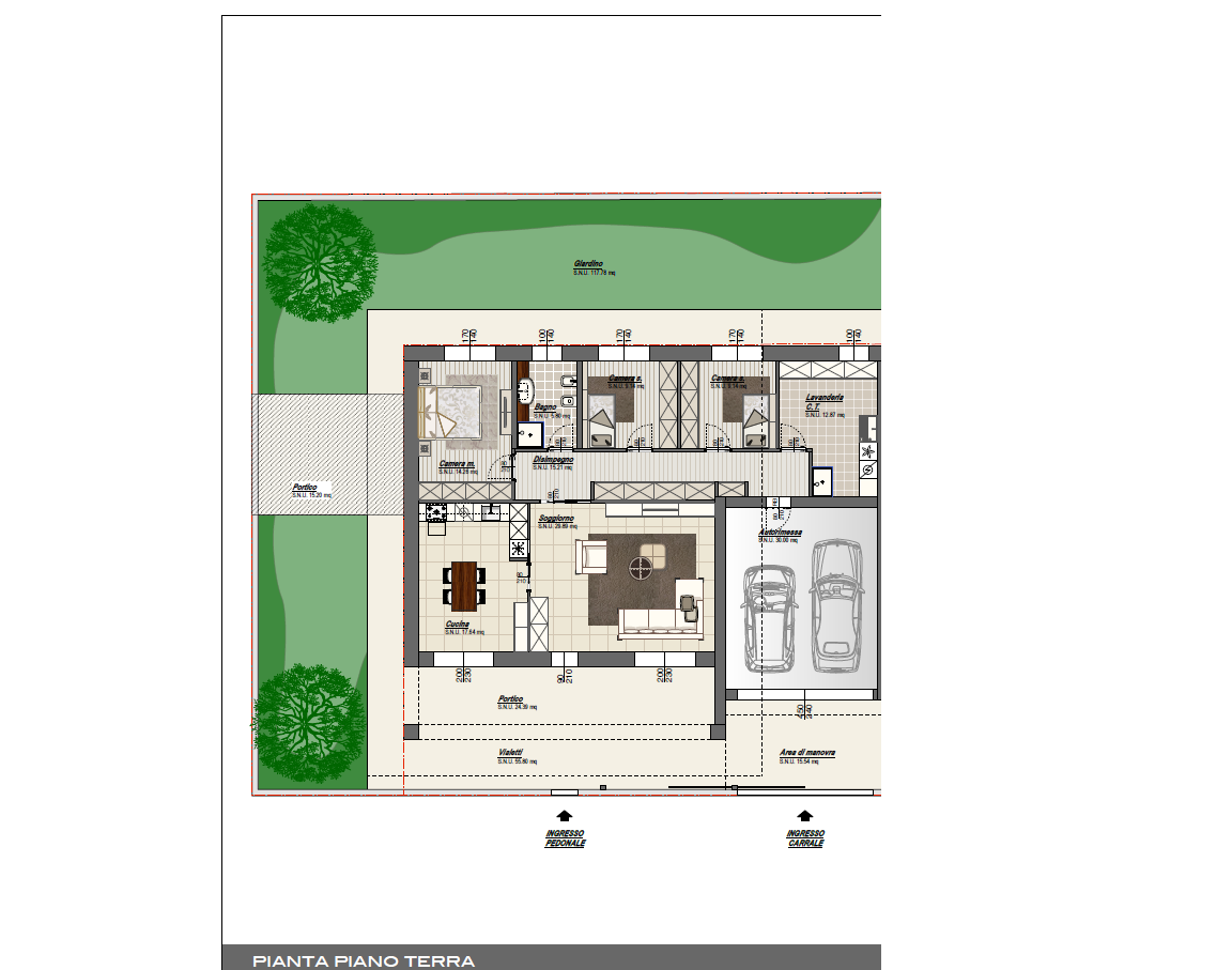 B m di brevi arturo e c s n c villa singola 140 mq for Case a un piano progetti